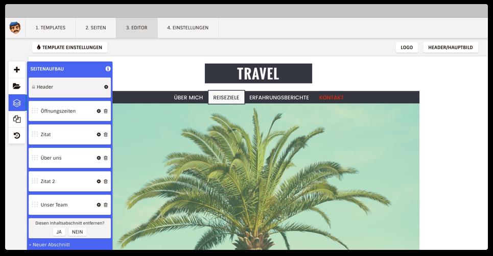 Website Creator Editor